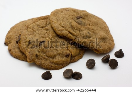 Chocolate chip cookies with chocolate chips