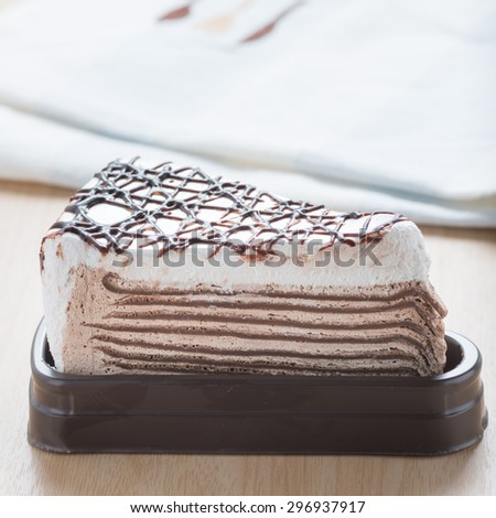 Chocolate crepe cake.