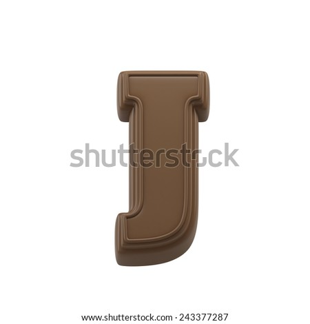 Chocolate Letter T Sweet Candy Font Stock Illustration
