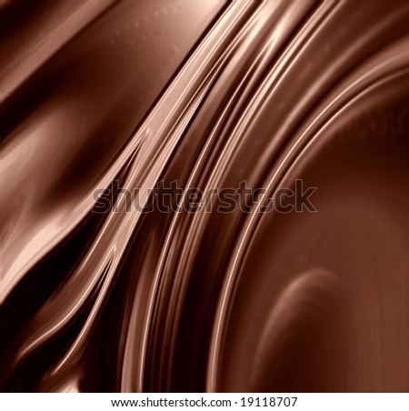 Chocolate swirl with some smooth lines in it