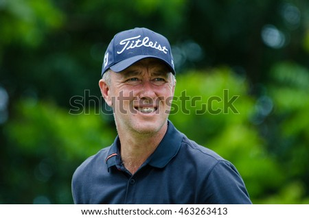 CHONBURI - JULY 31 : Mark Foster of England in King's Cup 2016 at Phoenix Gold Golf & Country Club Pattaya on July 31, 2016 in Chonburi, Thailand.