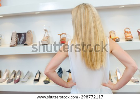 Choosing a new pair of shoes