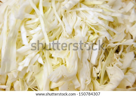 chopped cabbage as a background