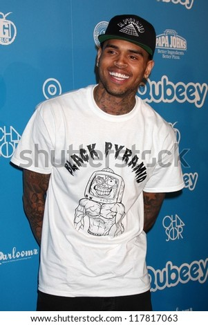 Chris Brown at the Chris Brown Channel Launch Party, Private Location, Los Angeles, CA 10-20-12