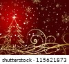 Christmas and New Year background. Raster version. - stock photo