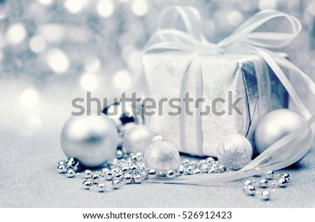 Christmas background with gift