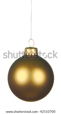 Christmas ball isolated on white