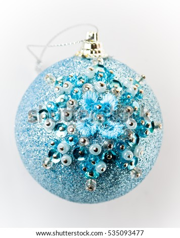 Christmas ball with beads