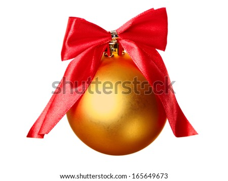 Christmas bauble isolated on a white background