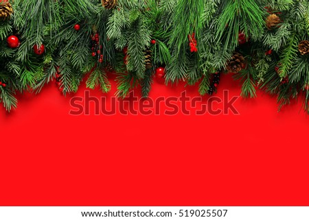 Christmas branches background