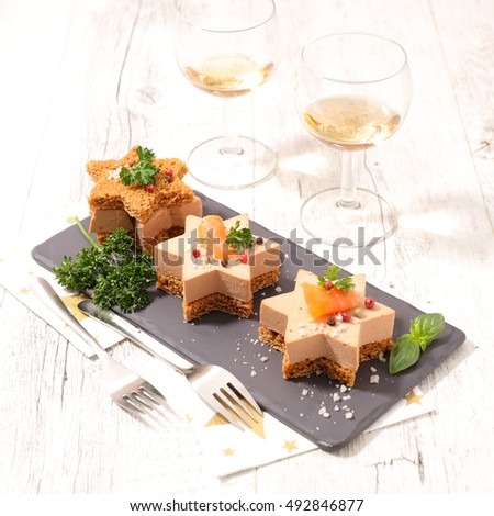 Sandwiches beef fresh vegetables herbs on stock photo for Foie gras canape