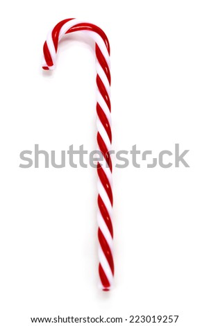 Christmas Candy Cane over white