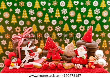 Christmas cookies and gingerbread with decoration