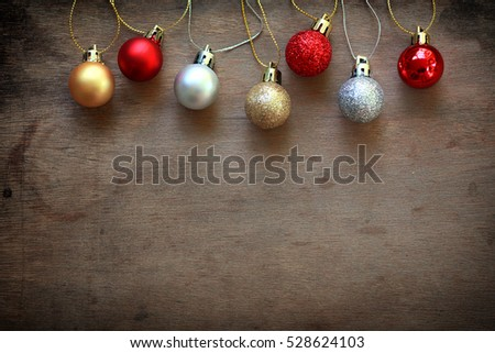 Christmas decoration wooden background