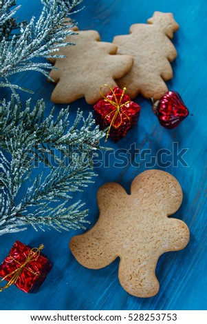 Christmas decorations, gingerbread