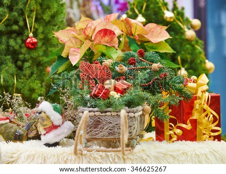 Christmas decorations, toys and souvenirs