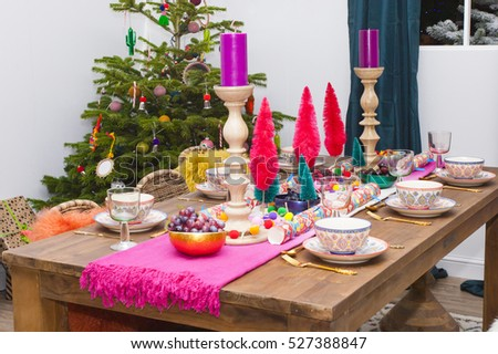 Christmas dining room interior