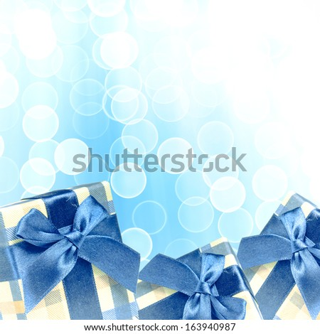 Christmas gifts. Christmas presents with a blurred background.