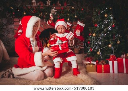 Christmas, Mother with son