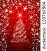 Christmas (New Year)  greeting card. Raster version. - stock photo