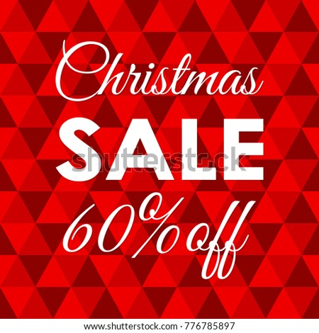Christmas Sale Banner 60 Percent Price Off Xmas And Holiday Discount Background Special