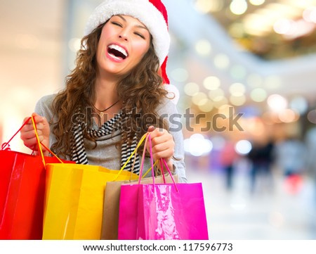 ... Mall.Sales. Christmas Gifts.Shopping Mall. Shopping Clothes - stock