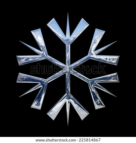 Christmas,snowflake and black background
