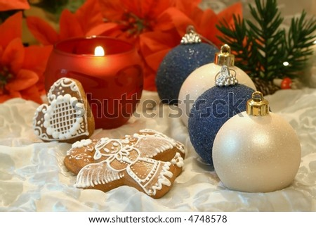 Christmas still life with  decorations