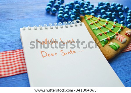 Christmas toys, Christmas decorations, Christmas balls, notebook,gingerbread.Christmas and New Year concept