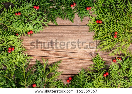 christmas tree branches with decoration