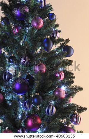 Christmas Decorations On Tree Stock Photo 518755690