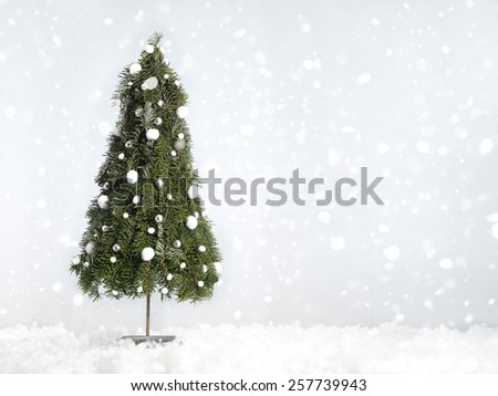 christmas tree decoration in a studio setting