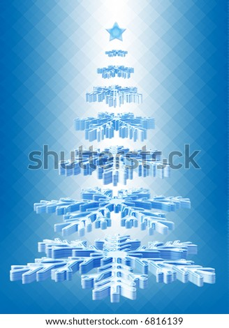 Christmas tree, isolated on background