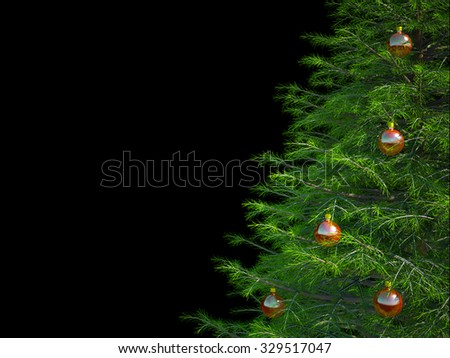 christmas tree on black background