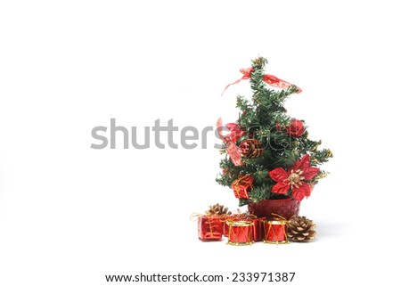 Christmas tree with a pile of presents