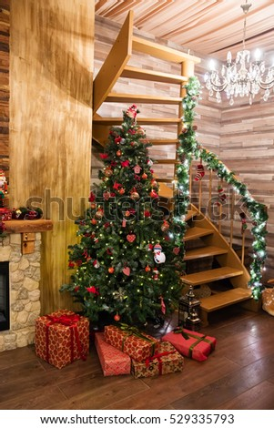 Christmas tree with gifts, Christmas concept