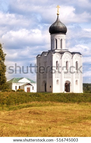 Church of the Intercession on the Nerl.  Vladimir region, Golden Ring of Russia