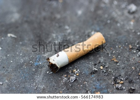 Escorted Smoking butts