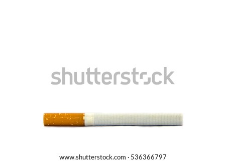 Cigarette on white isolated background,cigar