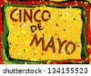 Cinco de Mayo celebration sign - stock photo