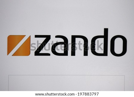 "CIRCA MAY 2014 - BERLIN: the logo of the brand ""Zando"", Berlin."