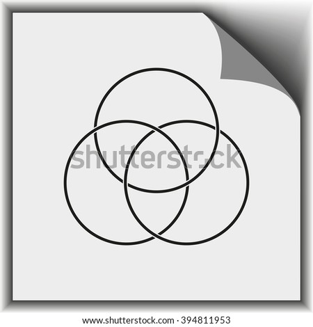 Circle diagram, graph, presentation and chart. Business concept with 3 options, parts, steps or processes.