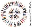Circle Diversity Business - stock photo