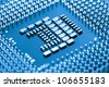 circuit board of laptop CPU - stock photo