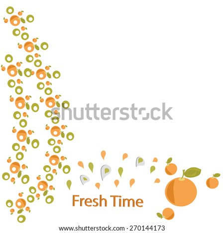 citrus pattern background is orange lime freshness of summer in the portfolio have a vector