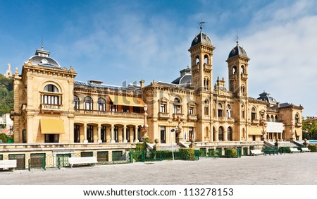 City Hall in San Sebastian (Donostia), Spain. It was built in 1897 and served as the Grand Casino of San Sebastian.
