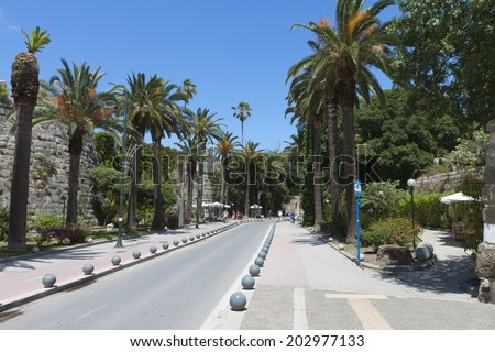 City of Kos island in Greece