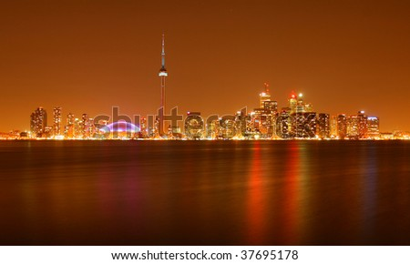City Toronto in nightlight