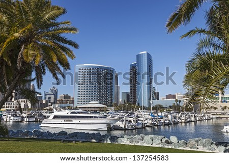 City View with Marina Bay at San Diego, California