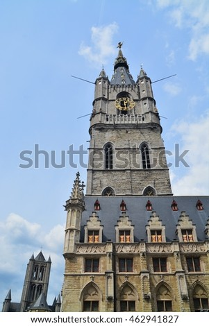 Cityscape of Ghent, Flandern, Belgium